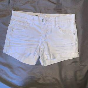 White Malibu shorts size 1
